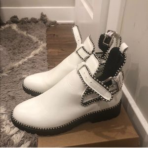 Nasty Gal White cut-out booties!